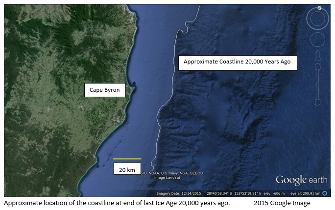 Map Of Australia 20000 Years Ago.Arakwal People History Byron Bay Historical Society