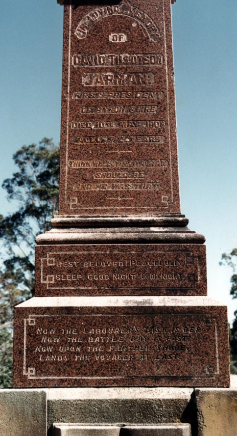 Tombstones on graves of settlers and pioneers Eli Hayter and David Jarman. EJW Photo – RTRL.