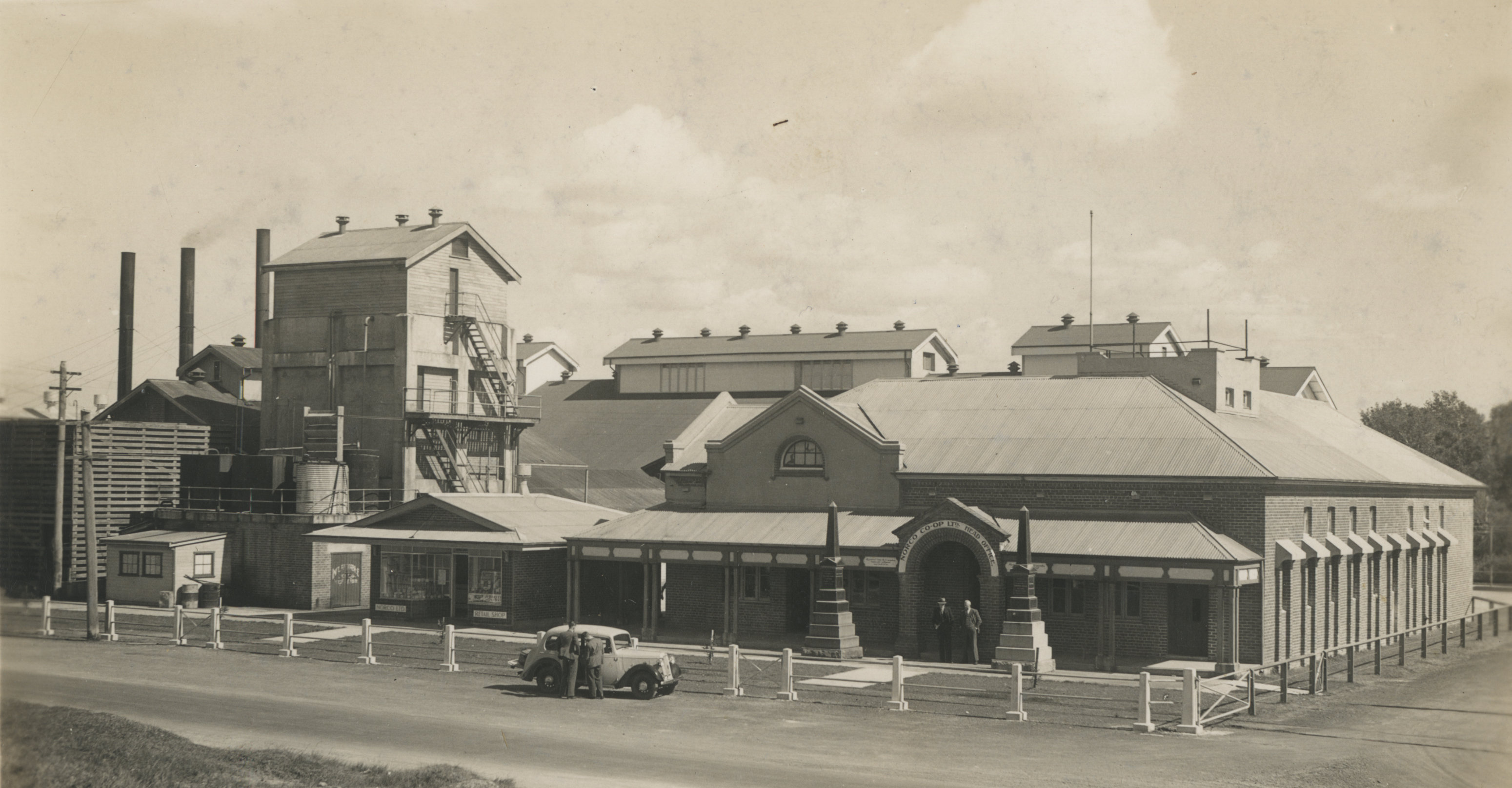 Norco butter factory south end of Jonson Street - 1930's EJW photo RTRL