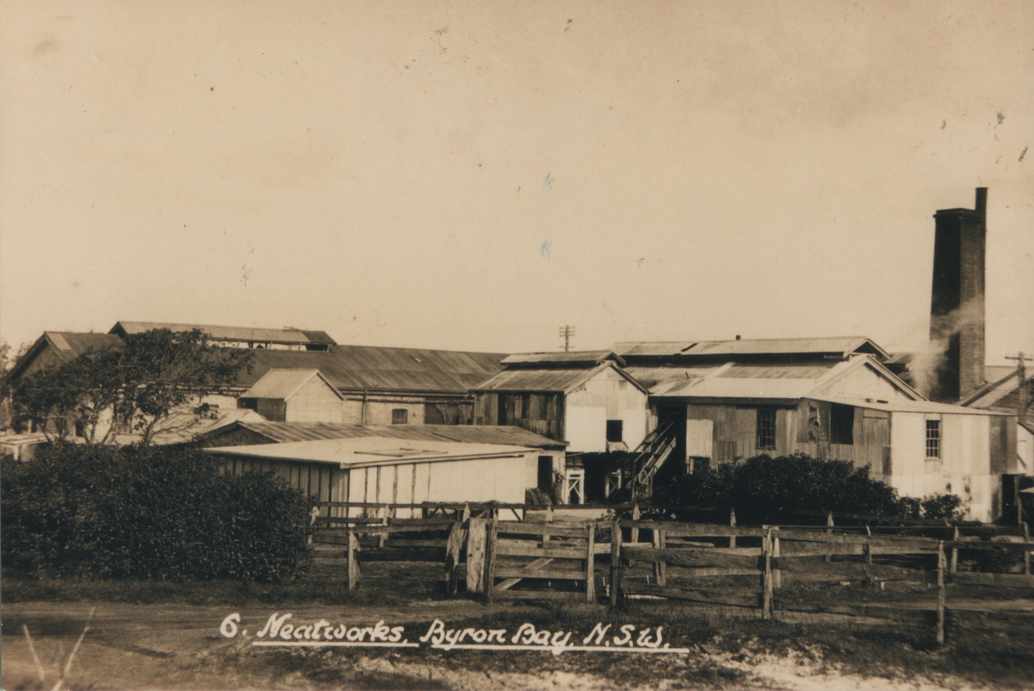 Byron Bay Meatworks – 1930's EJW Photo – RTRL.