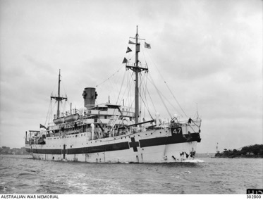 The Centaur Hospital Ship torpedoed and sunk by a Japanese submarine in April 1943.