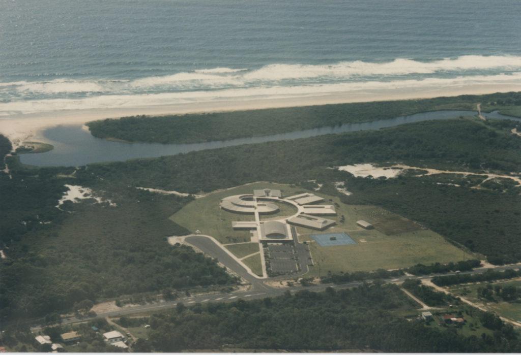 Aerial photo of Byron Bay High School
